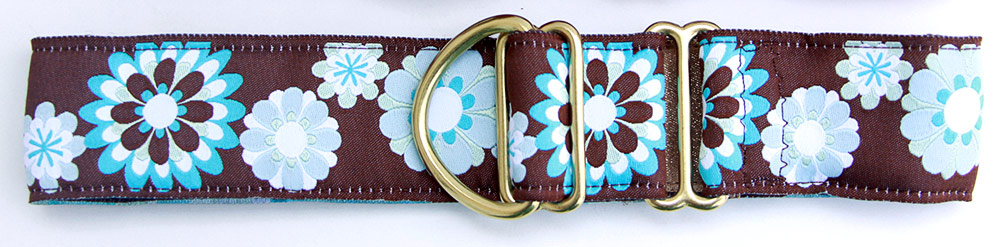 Carnaby Brown and Blue 1.5 inch Collar