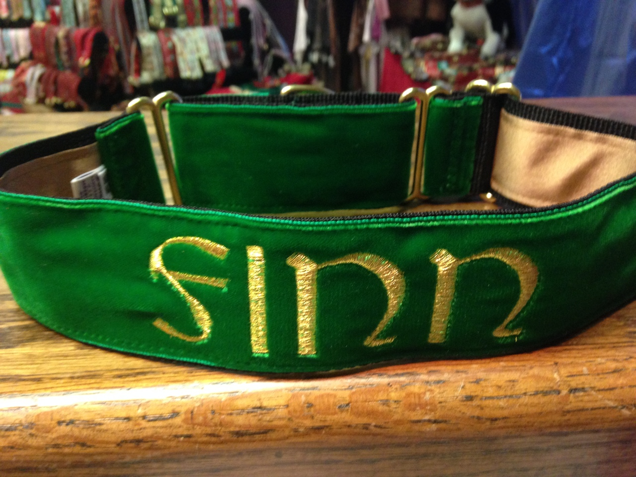 Kelly Green Velvet 3/4 inch Collar