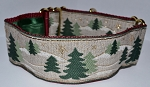 Pine Trees on Ecru 2 inch Collar