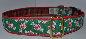 Christmas Peppermints 1.5 inch Collar