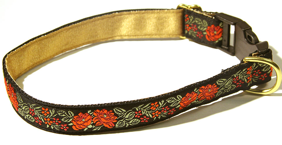 Satin Bouquet Scarlet 1 inch Collar