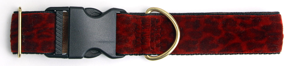 Cheetah Red 1.5 inch Collar