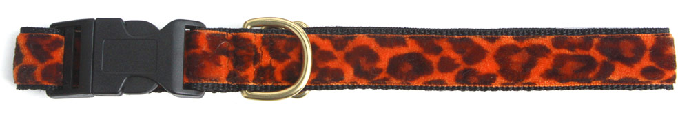 Cheetah Orange 1.5 inch Collar