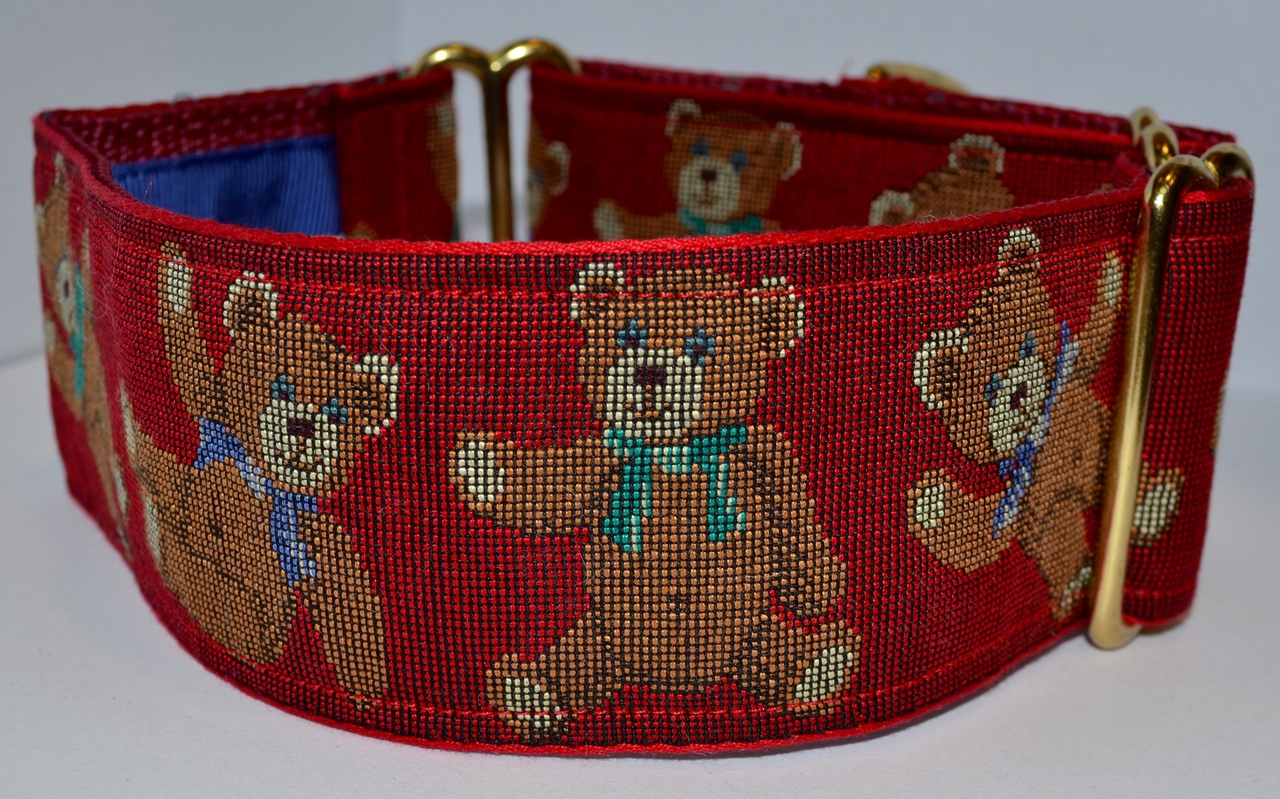 Teddy Bears Garnet 2 inch Collar