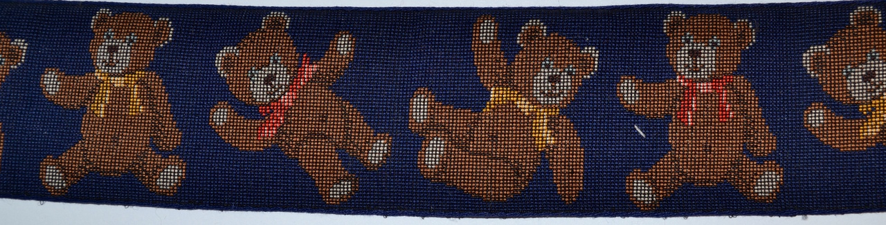 Teddy Bears Navy 2 inch Collar