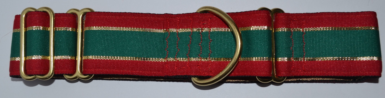 Christmas Stripe 1.5 inch Collar