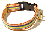Yipes Stripes Beechnut 1 inch Collar
