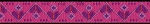 Hearts Hex Pink 5/8 inch Collar
