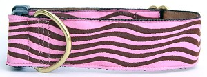 "Pink and Brown Retro Waves All 1.5"" width.  Also in Pink/Green or Brown/Blue."