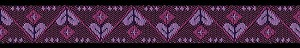 Hearts Hex Purple 5/8 inch Collar